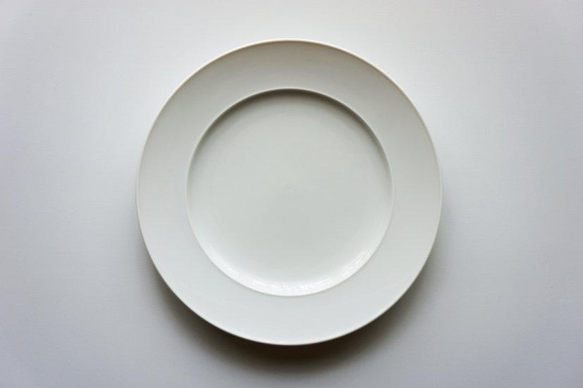 Vintage Rim Dinner Plate / Rosenthal / Porcelain / 1950s GERMANY