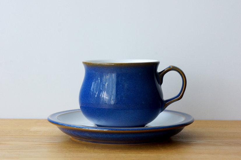 Vintage Cup & Saucer / Denby / 1980s ENGLAND