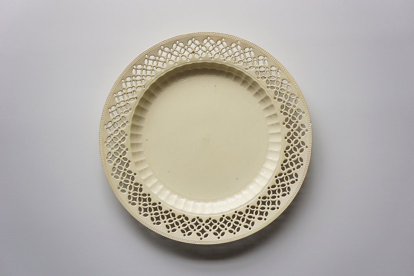 Creamware Plate / South Yorkshire / 1780s ENGLAND