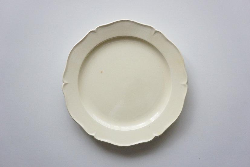 Flower Rim Plate / Creil et Montereau / 1890-1910 FRANCE