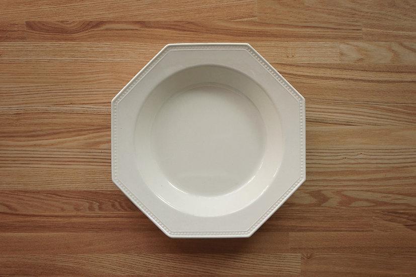 Octagonal Deep Plate / Creil et Montereau / 26cm [1]