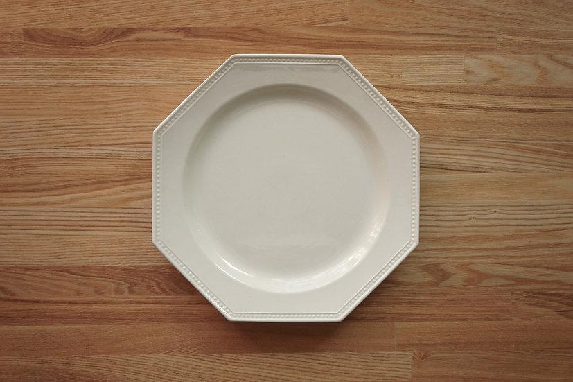 Octagonal Shallow Plate / Creil et Montereau / 26cm [1]