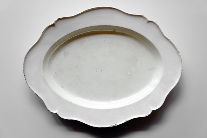 Oval Platter / Faience Fine / -1820 FRANCE