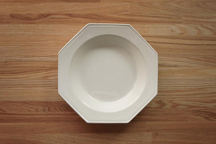 Octagonal Deep Plate / Creil et Montereau / 26cm [2]