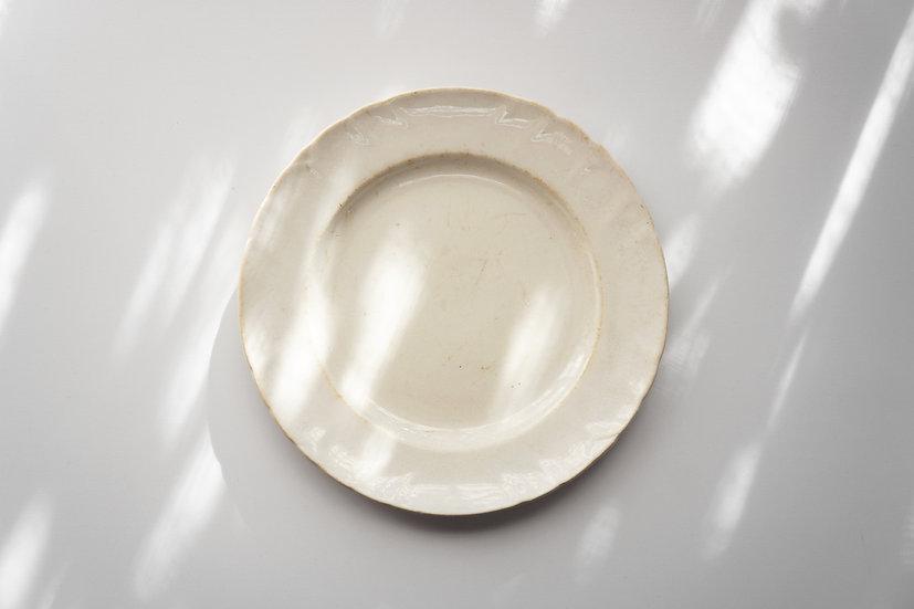 Side Dish / D.Johnston grès J.Vieillard & Co / 1845-65 FRANCE