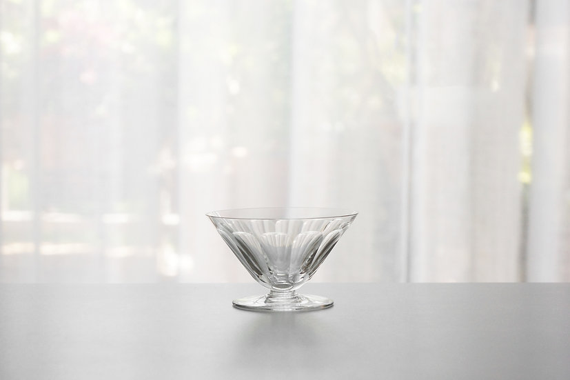 "Champagne Coupe Glass / Baccarat ""Rex"" / 1920- FRANCE"