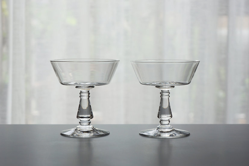 Pair Champagne Glasses / Baccarat / -1920s FRANCE