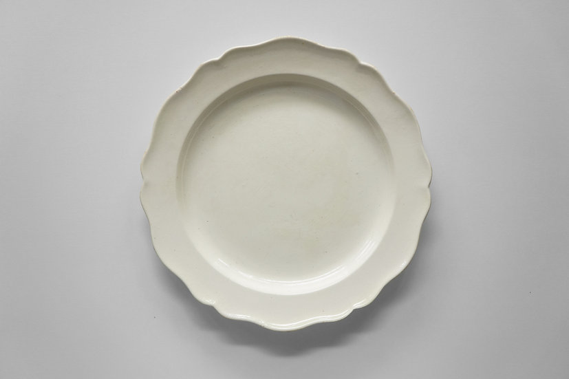 Rare Flower Rim Plate / Faience Fine / Early1800s FRANCE