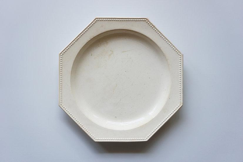 Octagonal Plate / Montereau / -1820 FRANCE