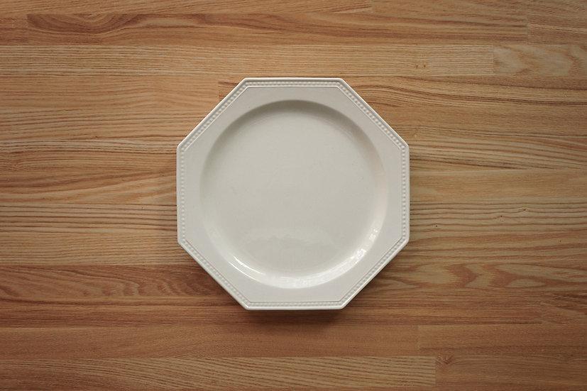 Octagonal Shallow Plate / Creil et Montereau / 21.6cm [1]