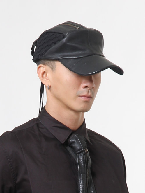 Recrafted Leather Baseball Cap