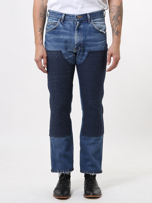 Sqaure Woven Blue Jeans