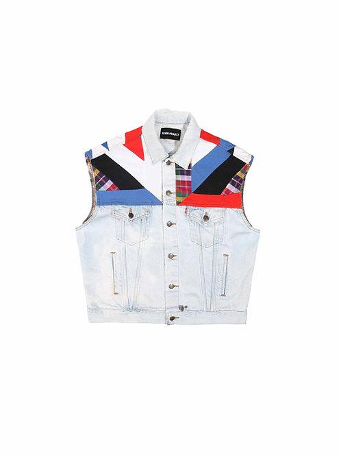 Recrafted Sleeveless Denim Jacket