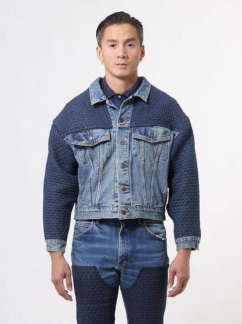 Woven Blue Jeans Jacket