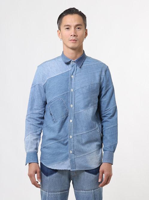 Oblique Denim Shirt