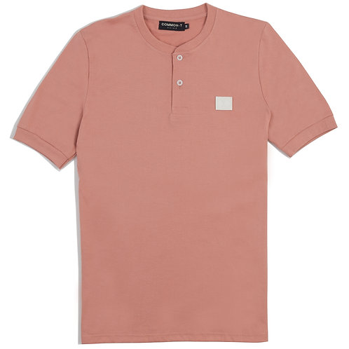 Pink Henley T-shirt