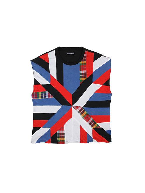 Patchwork Mixed Cotton T-shirt