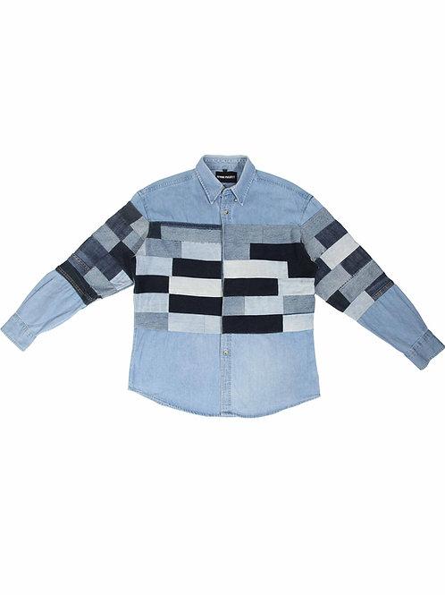 Patchwork Denim Shirt