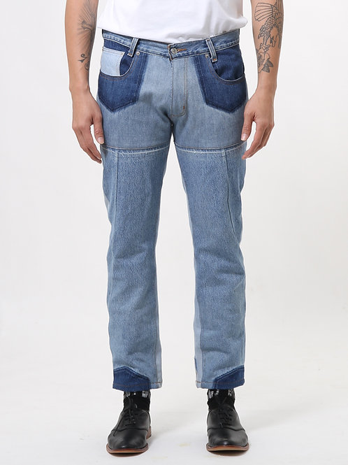 Rework Faded Blue Jeans