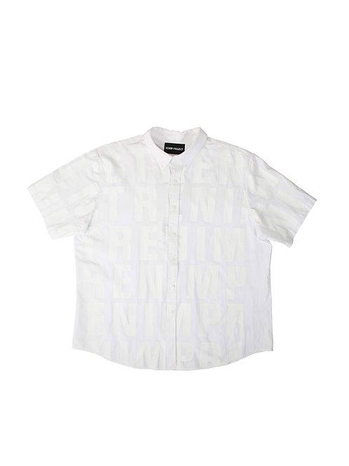 Full-Printed Double-White Typo Shirt