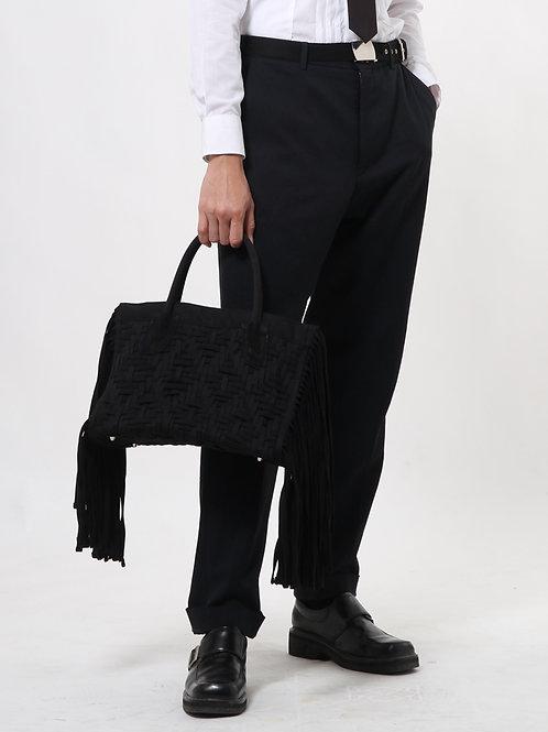 Handwoven Fringe Shoulder Bag