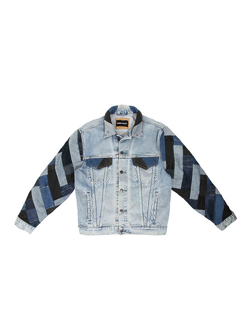 Full-Arm Patchwork Denim Jacket