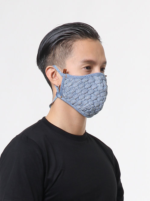 Handwoven Blue Jeans Mask