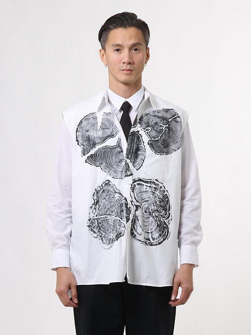 Wooden Graphic Sleeveless Shirt