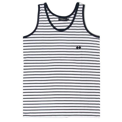 Striped Cotton-Jersey Vest