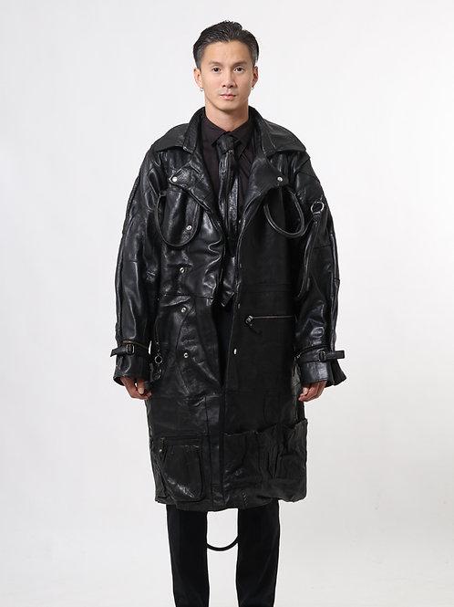 Double-Black Deconstructed Trench Coat