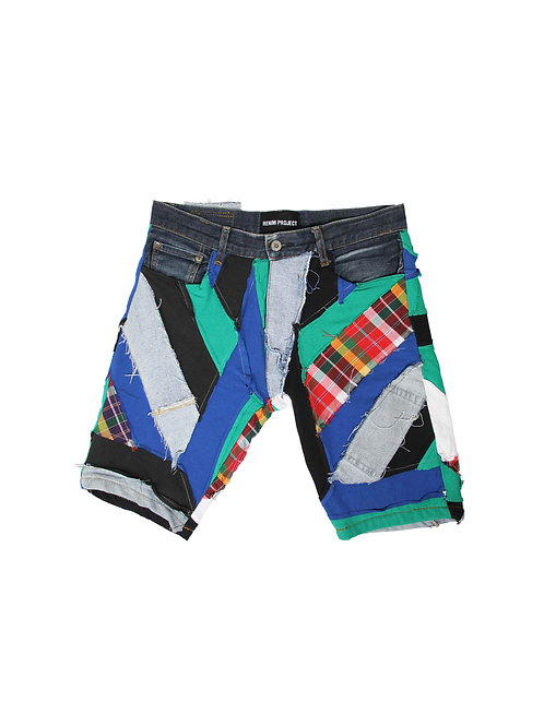 Patchwork Short Jeans