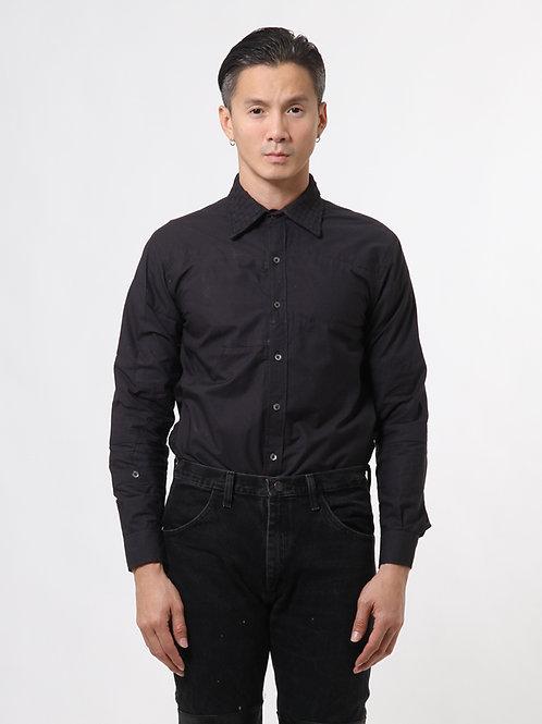 Handwoven Collar Patchwork Shirt