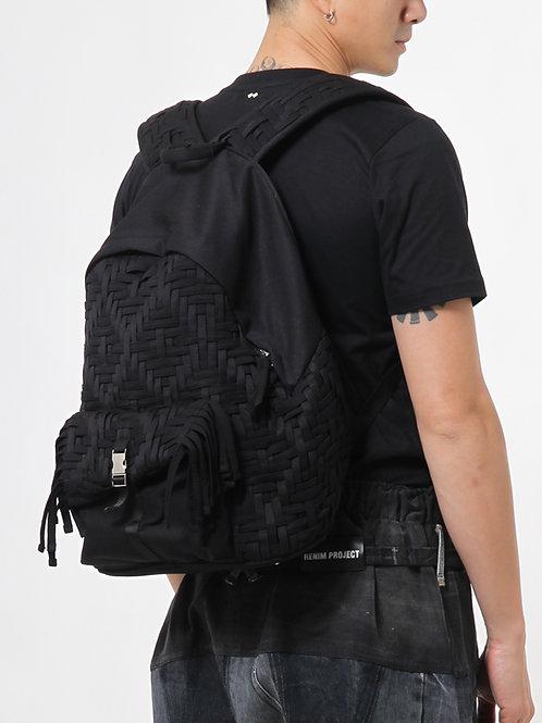 Handwoven Fringe Backpack