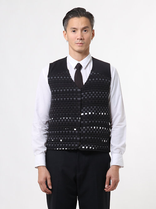Metric Square Handwoven Vest