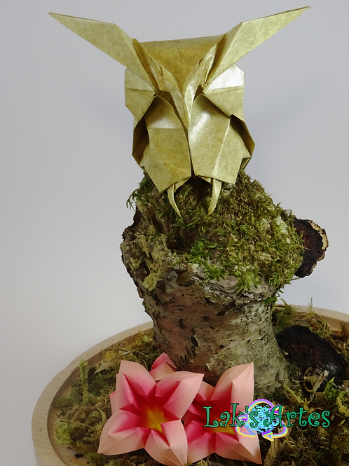 Sculpture hibou en Origami