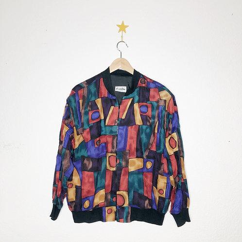 1990's Geometric Zip Up Jacket