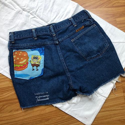 Cartoon Pocket Cut Offs: Spongebob Square Pants