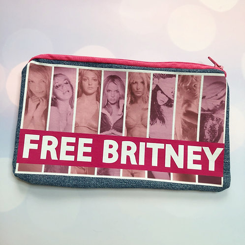 Free Britney Zipper Pouch