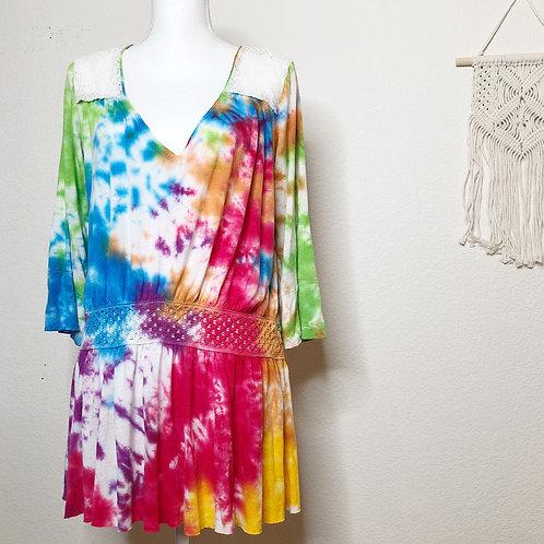 Rainbow Retro Dyed Tunic