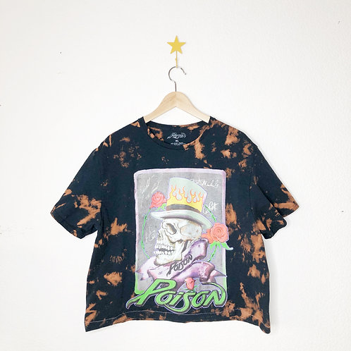Cropped Bleached Boxy Tee: Poison
