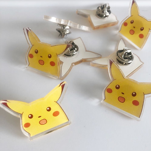 Shocked Pikachu Acrylic Pin