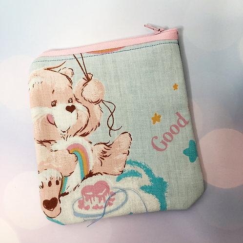 80's Care Bear Zipper Pouch: Cheer Bear