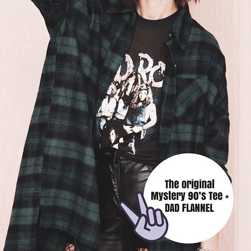 Mystery 90's Style Tee + Flannel