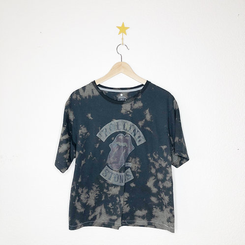 Cropped Bleached Boxy Soft Tee: Rolling Stones