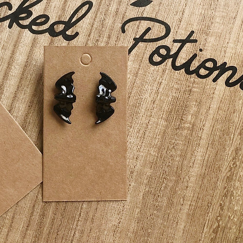 Bat Studded Earrings