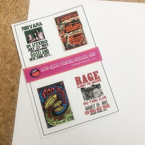 90's Nostalgia Show Poster Sticker Set V2