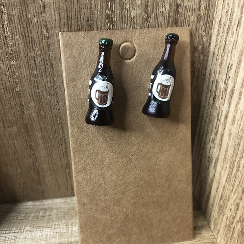 Root Beer Bottle Earrings