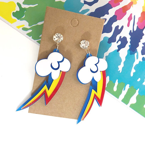 Color Pop Lightning Earrings