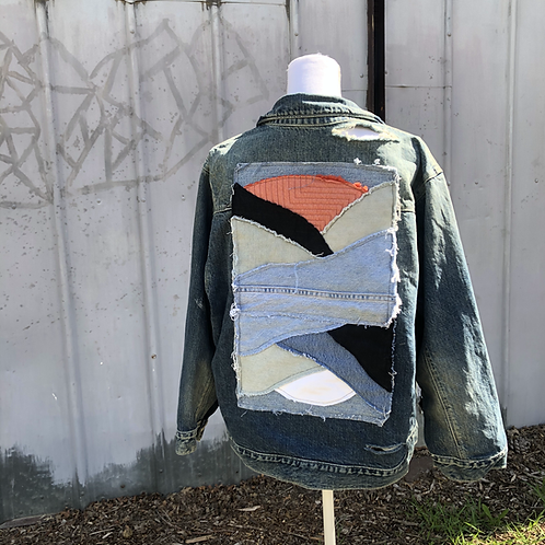 Reclaimed Denim Jacket: Sunset & Sunrise