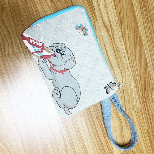 Reclaimed Wristlet: Pound Puppies